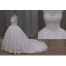 Strapless Sweetheart Lace Wedding Dress