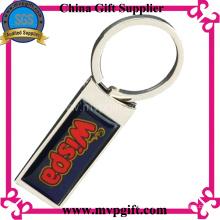 Anel chave de metal em branco com logotipo de impressão