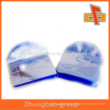 pvc ordinary transparent heat shrink sleeve with arc-shaped for cosmetic packaging