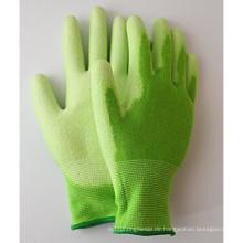 Sommergarten bearbeitet Breathable Bambusfaser-Handschuhe mit der PU-Palme, die beschichtet wird