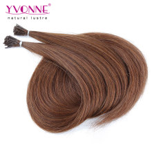 Couleur # 4 Prebond Stick I Tip Extensions de cheveux humains