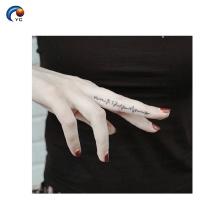 Mini tatuagem temporária da etiqueta do corpo com impressão impermeável