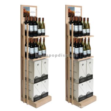 Multi-Layer Chinesische Herstellung Werbung Wein Shop Regale, Holz Shop Regale zum Verkauf