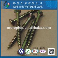 Hecho en Taiwán C1018 Phil Cabeza Oval Twinfast Cuerpo de tamaño reducido con 2/3 hilo de longitud de la caja de endurecer ZY CR6 + tornillos de madera