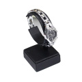 Leather PU Black C Clips Watch Display Stand (WS1)