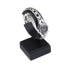 Leder PU schwarz C Clips Uhr Display-Ständer (WS1)