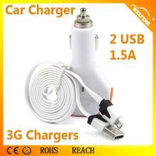 Mejor venta 2 Port USB cargador de batería de coche para Iphone WF-102