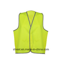Hot Cheap Reflective Safety Vest Made of 100% Polyester Tricot Fabric