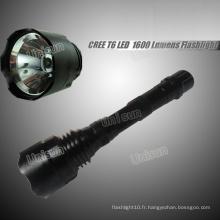 10W Green rechargeable lampe de poche LED pour la chasse