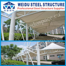 Steel structure steel car shed