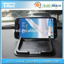 Tenedor anti del teléfono del resbalón del gel de la PU del 100% para el tablero de instrumentos del coche
