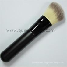 Venta caliente de madera mango suave pelo Kabuki cosméticos polvo cepillo