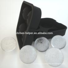Силиконовый кубик льда лоток льда производитель черный силиконовый лед мяч плесень
