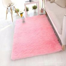 décor de tapis de soie artificielle rose pour le salon