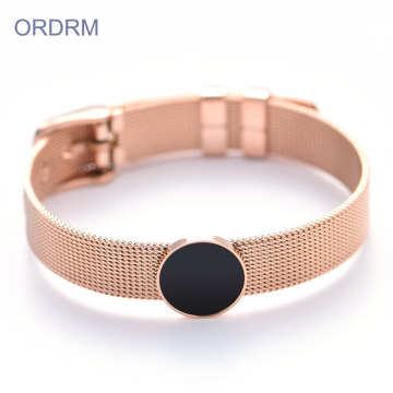 Rostfritt stål Rose Gold Bangle Armband Partihandel