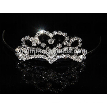 2015 new style fashion rhinestones hair tiara comb crowns