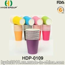 Tasse jetable de papier café chaud à mur unique en couleur pure (HDP-0109)