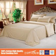 Super qualité hôtel Satin Stripe linge de lit ensemble de housse de couette en coton