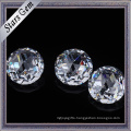 Round 5mm Brilliant Rose Cut White Color Cubic Zirconia Gemstones for Jewelry
