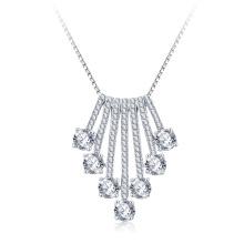CZ Crystal Tassel Necklace Fashion Jewelry Wholesale (CNL0227-B)