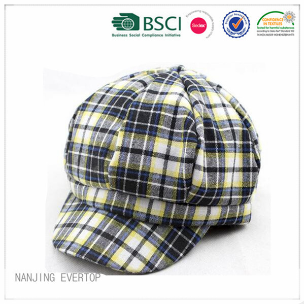 100 % Cotton Plaid Ivy Cap