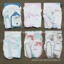 Boy Girl Wedding Flower Paper Craft Pack 21 Die-Cut Tag Mini Card