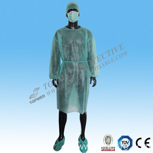 Disposable PP Nonwoven Isolation Gown