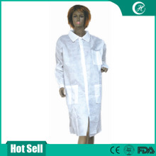 disposable non woven white PP+PE surgical gown