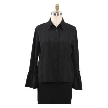 Camisas Jacquard Mulher Blusa Senhora Tops