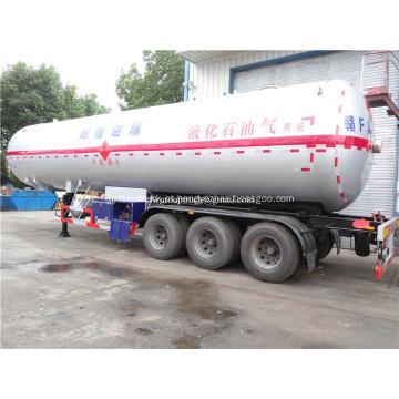 65000 litros de capacidade do caminhão tanque de combustível semi-reboque