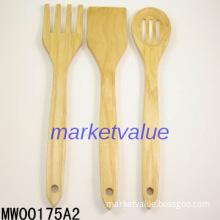 """3PCS 12\"""" Wooden Kitchen Tools"""