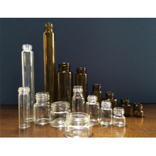 Clear and Amber Tubular Screwed Glass Vial with High Quality