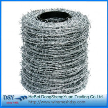 PVC coated barbed wi...