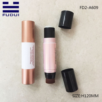 Double end plastic concealer foundation stick tube
