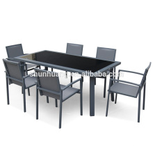 high quality waterproof outdoor furniture chair garden dining sets aluminum chairs