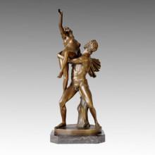 Klassische Bronze Garten Skulptur Rape Sabine Frauen Deco Messing Statue TPE-047