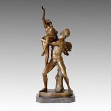 Classical Bronze Garden Sculpture Rape Sabine Women Deco Brass Statue TPE-047