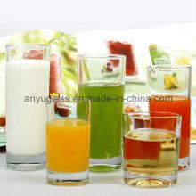 Caneca de chá clara / Copo de vidro de suco de vidro / Caneca de cerveja de vidro Atacado