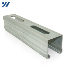 Профессиональный процесс Гальванизированный канал стального профиля C Тип канала стали, цены на железную канал, перфорированный канал