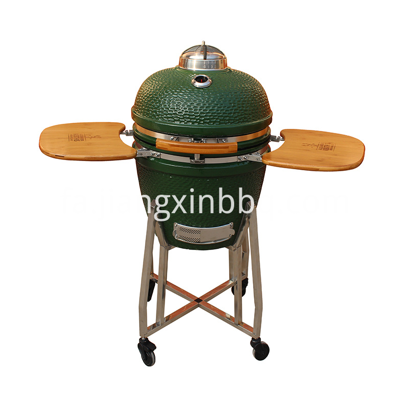 18'' Kamado Grill with Stainless Steel Cart