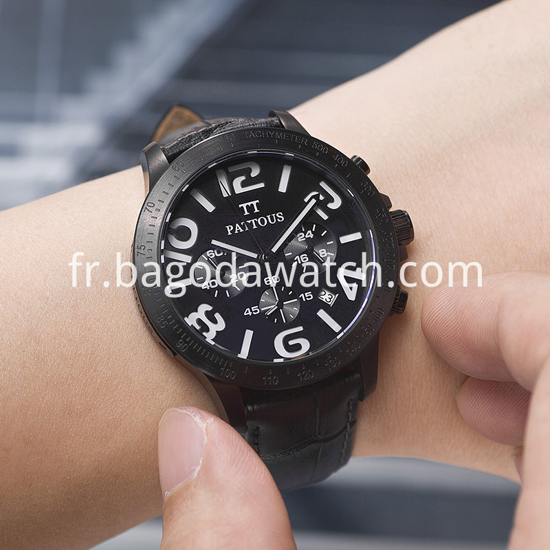 Mens Black Metal Watches