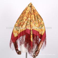 lenços de seda quadrados impressos digitais de india e turquia