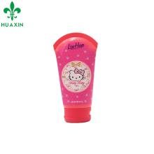 Envase de empaquetado del tubo cosmético de la etiqueta del tubo de la muchacha de la historieta