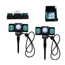 Double Outdoor Sockets with Sensor
