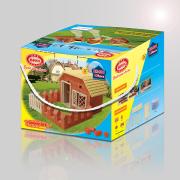 Konstrüksiyon Oyuncakları Kırmızı Evler - Çiftlik Evi