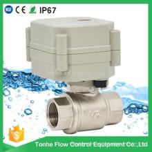 Control eléctrico de 2 vías con agua de actuador Válvula de bola motorizada Cwx-15q