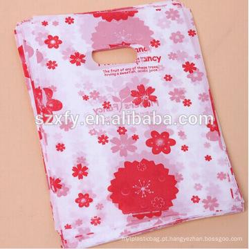 Saco de embalagem de plástico mais popular impresso presente e saco de compras