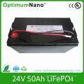 Bateria de 24V 50ah LiFePO4, bloco de bateria solar favorável ao meio ambiente do armazenamento