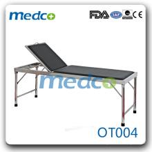 Cuir en cuir artificiel table d'examen médicale portable OT004