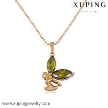 30961 xuping agate pierre couleur pierre saoudite arabian plaqué or pendentif ensembles